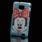 Housse Minnie Mouse Diamant strass Samsung Galaxy S2 /I9100