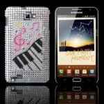 Coque Piano Strass Samsung Galaxy Note I9220 GT-N7000