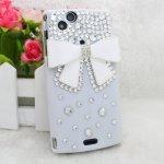 Coque Sony Ericsson Xperia Arc S Noeud Diamond Strass