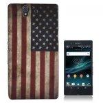 Housse, Coque Silicone Drapeau USA pour Sony Ericsson Xperia Z