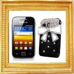 Coque Strass Pour Samsung S5360 Galaxy Y Noeud Bling