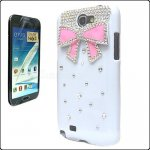 Coque Pour Samsung Galaxy Note 2 N7100 Noeud Strass