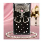 Coque Pour Nokia Lumia 520 Noeud Bling Strass