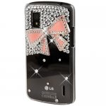 Coque Pour LG Google Nexus 4  Noeud Bling Strass