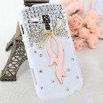 Coque Pour Samsung Galaxy S4 i9500 Noeud Bling Strass