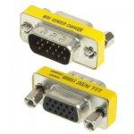 Adaptateur Coupleur DB15 HD15 - VGA Mâle vers VGA Femelle - 15 Broches