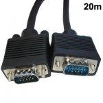 Câble VGA 15 broches mâle vers VGA 15 broches mâle Pour CRT Moniteur 20 M