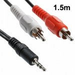 Câble audio Jack 3.5 mm stéréo mâle / 2 RCA mâles (1.5 mètre)