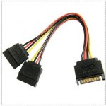 Câble d'extension SATA 15-Pin Male vers 2 x 15-Pin Femelle - 15CM