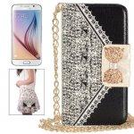 Étui Portefeuille Samsung Galaxy S6 G920 Strass Nœud  Modèle Sac à Main