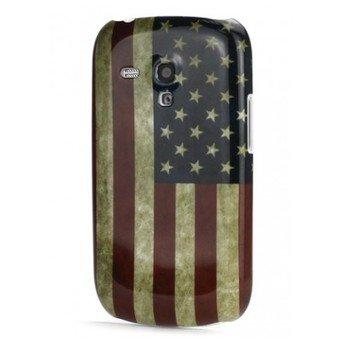 Housse, Coque Silicone Drapeau USA Samsung Galaxy S3 Mini I8190