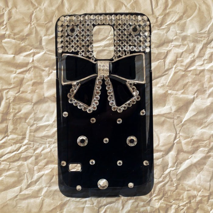 Coque Pour Samsung Galaxy S5 i9600 Noeud Bling Strass