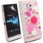 Coque Pour Sony Ericsson Xperia U avec Pierres Incrustés