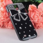 Coque Pour Samsung Galaxy S4 Mini I9195 Noeud Bling Strass