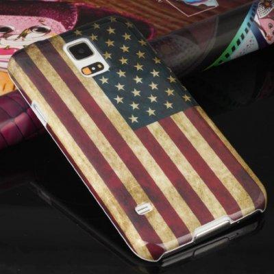 Housse, Coque Drapeau USA Pour Samsung Galaxy S5 I9600