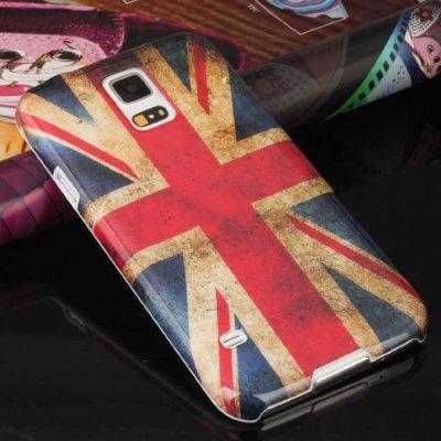 Housse, Coque Drapeau Angleterre, UK Pour Samsung Galaxy S5 I9600