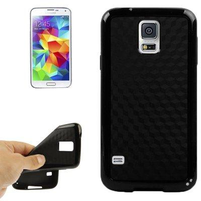 Coque de Protection Silicone Noir avec Contour Plastique Noir pour Samsung Galaxy S5 I9600